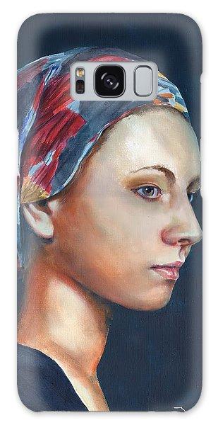 Girl With Headscarf Galaxy Case