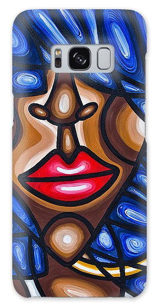 Galaxy Case featuring the painting Girl With Hoop Earring by Aliya Michelle