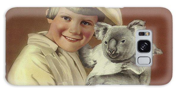 Koala Galaxy Case - Girl With Koala And Its Baby by English School