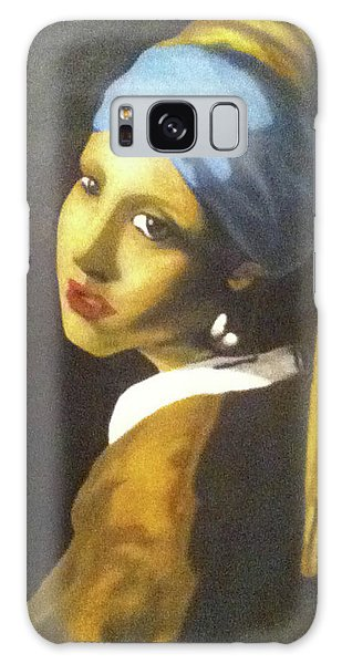 Galaxy Case featuring the painting Girl With Pearl Earring by Jayvon Thomas