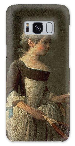 Girl Galaxy Case - Girl With Racket And Shuttlecock by Jean-Baptiste Simeon Chardin