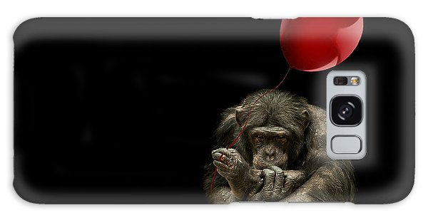 Chimpanzee Galaxy S8 Case - Girl With Red Balloon by Paul Neville
