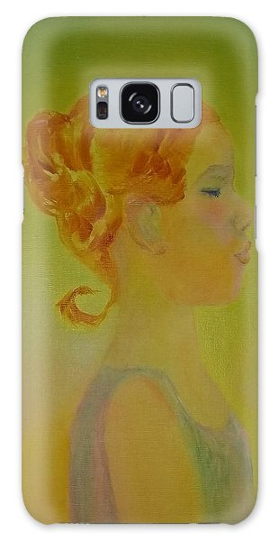 The Girl With The Curl Galaxy Case