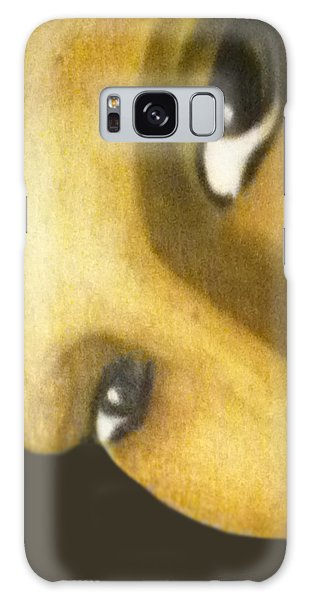 Galaxy Case featuring the painting Girl With The Pearl Earring Close Up by Jayvon Thomas