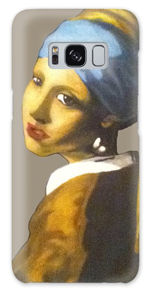 Galaxy Case featuring the painting Girl With The Pearl Earring No Background by Jayvon Thomas