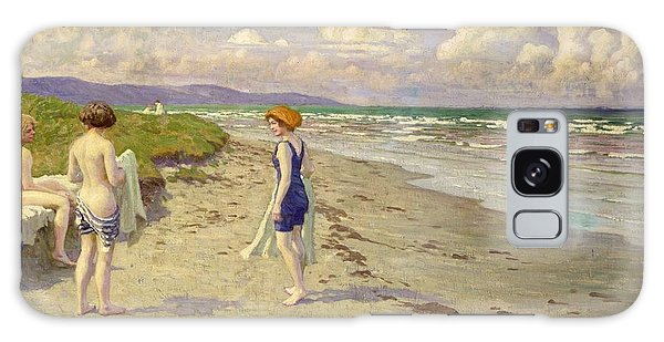 Sand Galaxy Case - Girls Preparing To Bathe On The Beach by Paul Fischer