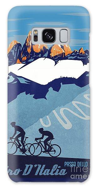 Giro D'italia Cycling Poster Galaxy Case