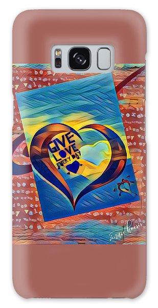 Give Love Galaxy Case