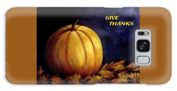 Give Thanks Autumn Painting Galaxy Case