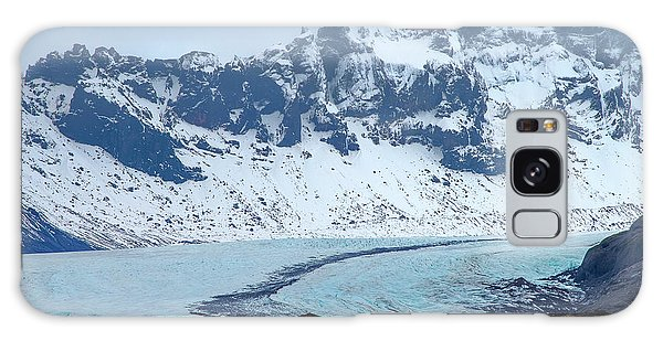 Galaxy Case featuring the photograph Glacier And Mountain, Iceland by Pradeep Raja PRINTS