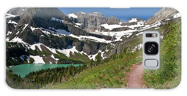 Galaxy Case featuring the photograph Glacier Backcountry Trail by Gary Lengyel