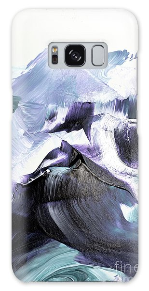 Waves Galaxy Case - Glacier Mountains by PrintsProject