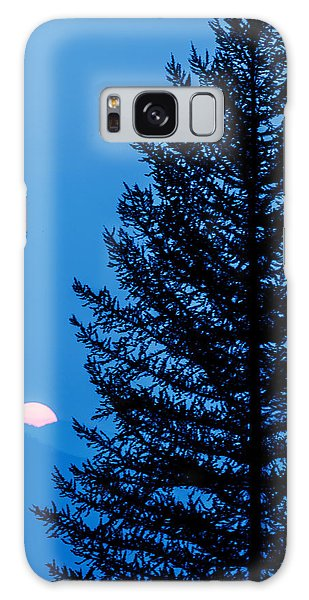 Glacier National Park Sunset Blue Galaxy Case