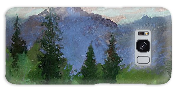 Glacier Nat'l Park - Plein Air -  Rising Wolf Ranch Galaxy Case