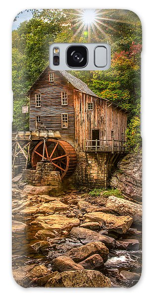 Glade Creek Mill Fall Galaxy Case by Rebecca Hiatt