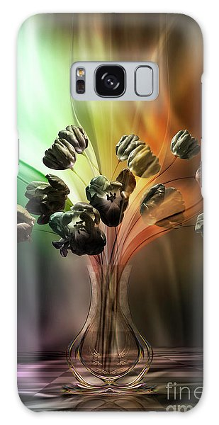 Glasblower's Tulips Galaxy Case by Johnny Hildingsson