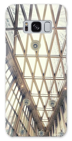 glass ceiling in hall of  new State office  Galaxy Case