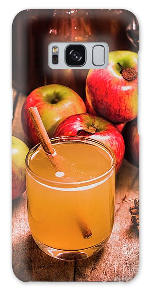 Indoors Galaxy Case - Glass Of Fresh Apple Cider by Jorgo Photography - Wall Art Gallery
