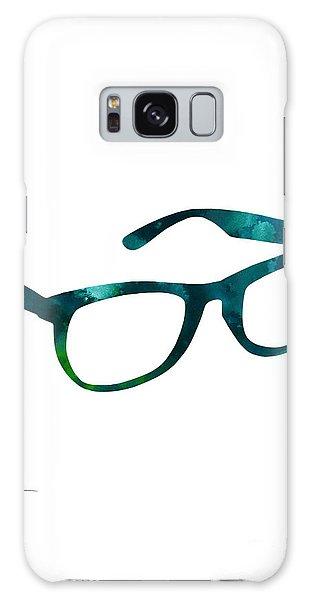 Glass Galaxy Case - Glasses Silhouette  Watercolor Art Print Poster by Joanna Szmerdt
