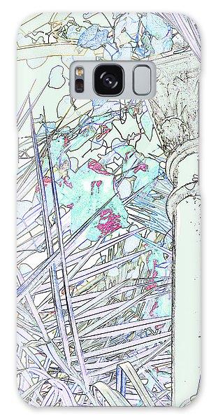 Galaxy Case featuring the photograph Glasshouse Jungle by Nareeta Martin