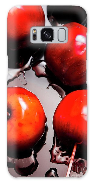 Made Galaxy Case - Gleaming Red Candy Apples by Jorgo Photography - Wall Art Gallery