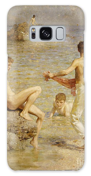 Sitting Nude Galaxy Case - Gleaming Waters by Henry Scott Tuke