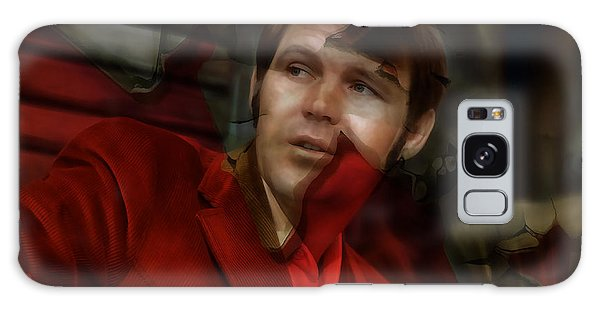 Galaxy Case featuring the mixed media Glen Campbell by Marvin Blaine