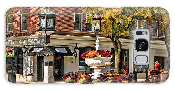 Galaxy Case featuring the painting Glen Ellyn Watering Fountain by Christopher Arndt