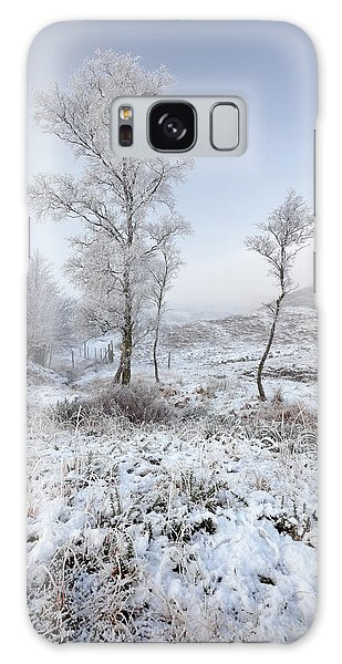 Galaxy Case featuring the photograph Glen Shiel Misty Winter Trees by Grant Glendinning