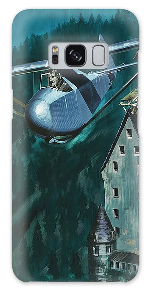 Glider Escape From Colditz Castle Galaxy Case by Wilf Hardy