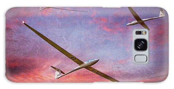 Gliders Over The Devil's Dyke At Sunset Galaxy Case