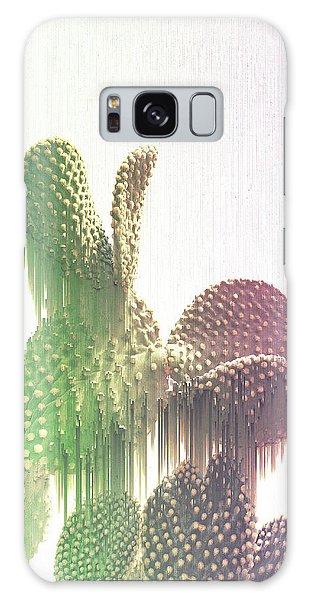 Glitch Cactus Galaxy Case