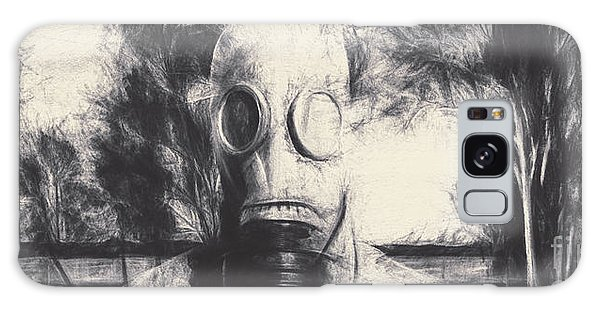 Breathe Galaxy Case - Vintage Gas Mask Terror by Jorgo Photography - Wall Art Gallery