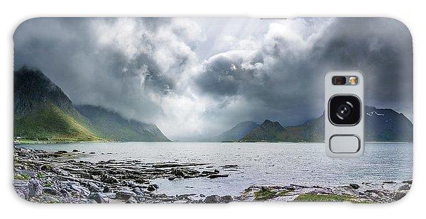 Gloomy Day On Lofoten Islands Galaxy Case