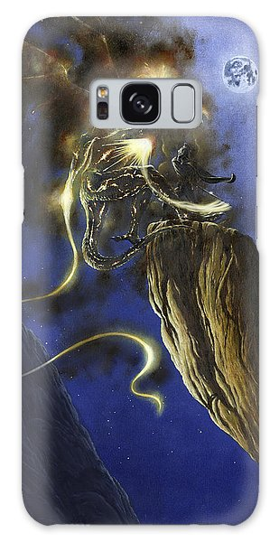 Galaxy Case featuring the painting Glorfindel Versus A Balrog Of Morgoth by Kip Rasmussen
