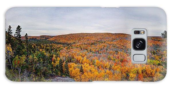 Glorious Autumn Lutsen Mountain Resort North Shore Minnesota Galaxy Case