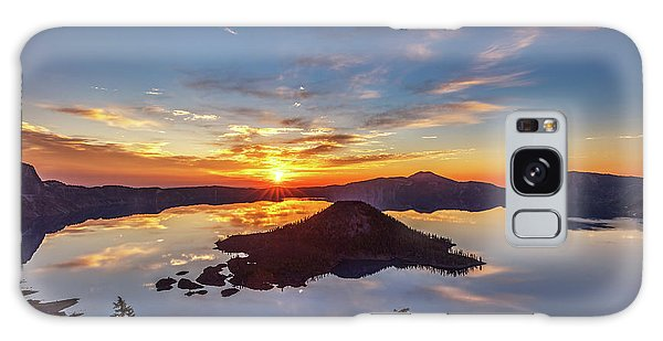 Galaxy Case featuring the photograph Glorious Crater Lake Sunrise by Pierre Leclerc Photography