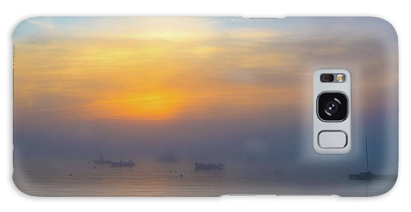 Gloucester Harbor Foggy Sunset Galaxy Case