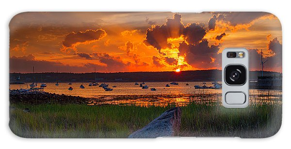 Gloucester Harbor Sunset Galaxy Case