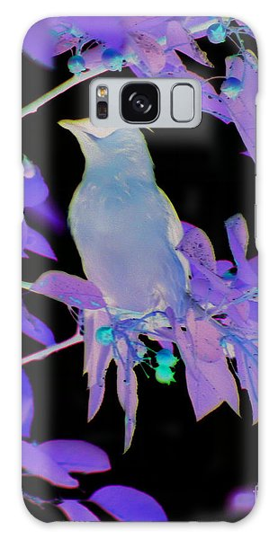 Glowing Cedar Waxwing Galaxy Case