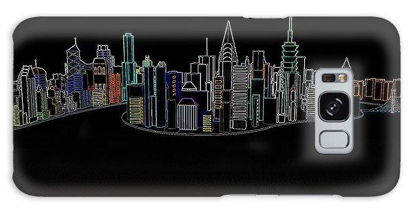 Glowing City Galaxy Case