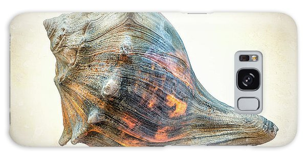 Galaxy Case featuring the photograph Glowing Conch Shell by Gary Slawsky