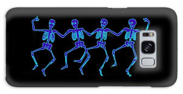 Galaxy Case featuring the digital art Glowing Dancing Skeletons by Jennifer Hotai