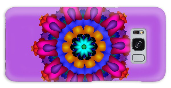 Glowing Fractal Flower Galaxy Case