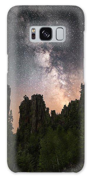 Boreal Forest Galaxy Case - Glowing Horizon by Jakub Sisak