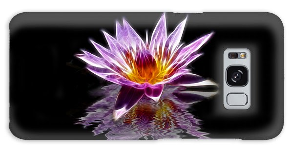 Glowing Lilly Flower Galaxy Case by Shane Bechler