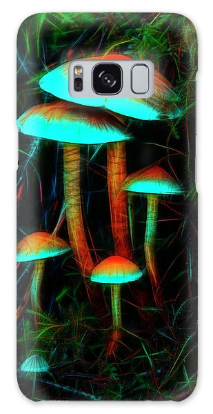 Glowing Mushrooms Galaxy Case