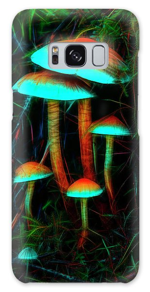 Glowing Mushrooms Galaxy Case