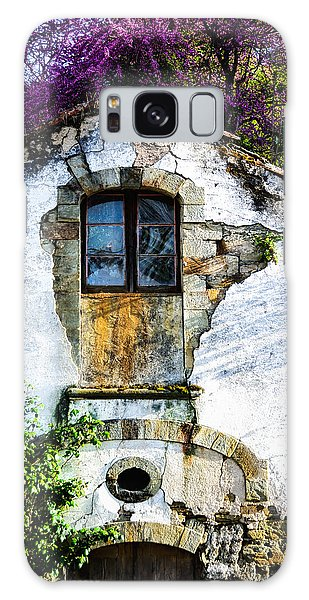 Glowing Old Window In Portugal Galaxy Case by Marion McCristall