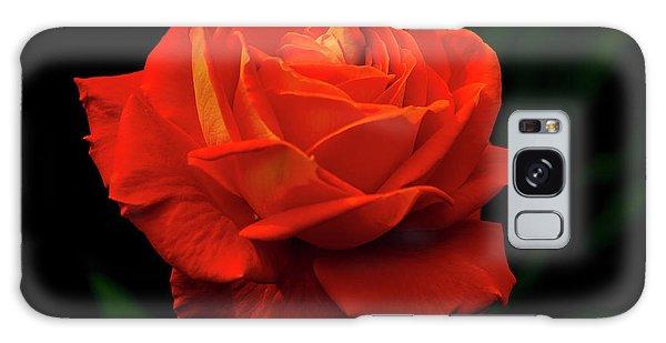Glowing Orange Rose Galaxy Case